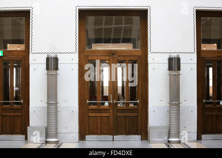Hall. Postal Office Savings Bank Building by Otto Wagner. - Stock Photo