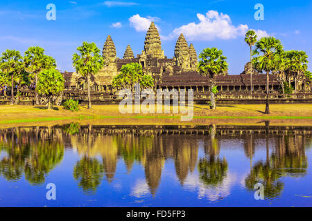 Angkor Wat, Siem Reap. Khmer temple in Cambodia. - Stock Photo