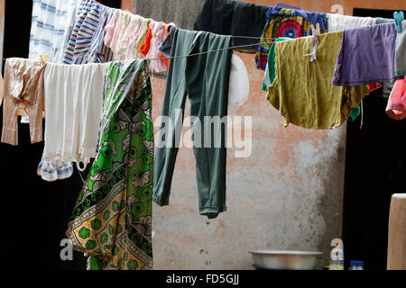 Laundry hanging out. - Stock Photo