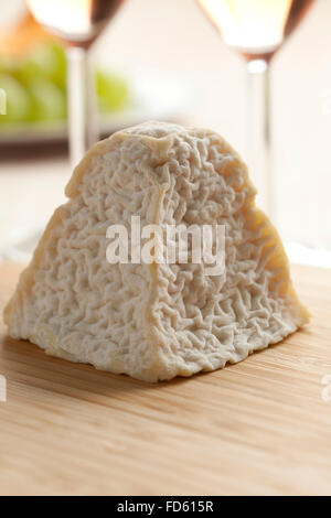 Fresh  Pouligny St. Pierre cheese for dessert - Stock Photo