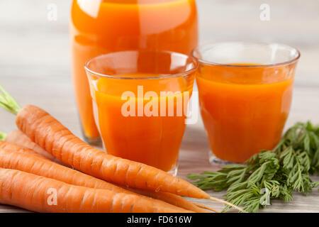 Fresh orange carrot juice - Stock Photo