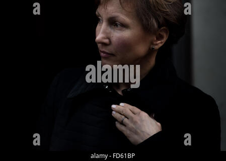 London, UK. 28th Jan, 2016.  Marina Litvinenko visits Home Office to meet the home secretary Theresa May after call - Stock Photo