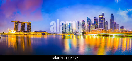Singapore skyline at the bay. - Stock Photo