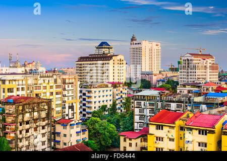 Yangon, Myanmar downtown skyline. - Stock Photo