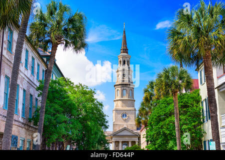 Charleston, South Carolina, USA view of the French Quarter. - Stock Photo
