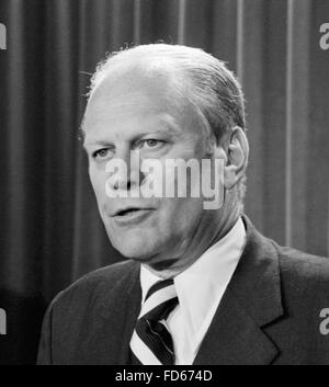 Gerald Ford, portrait of the 38th President of the USA, August 1974 - Stock Photo