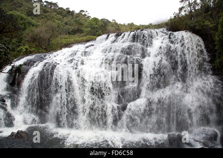 Baker's Falls is a famous waterfall in Sri Lanka, situated in Horton Plains National Park - Stock Photo