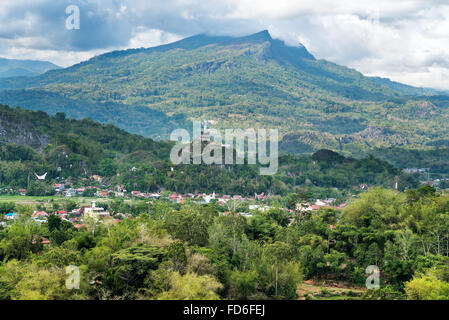 View of Rantepao in Tana Toraja, Sulawesi. Indonesia - Stock Photo