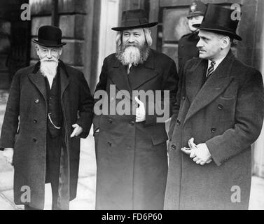 Jewish delegates of the Palestine Conference in London, 1939 - Stock Photo