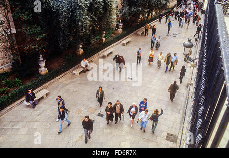 Micalet street,Carmen quarter,Valencia,Spain - Stock Photo