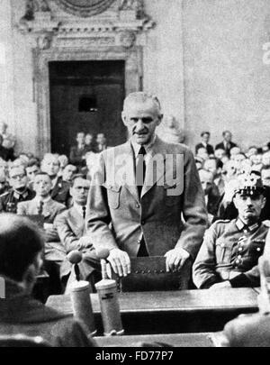 Carl Goerdeler before the People's Court in Berlin, 1944 - Stock Photo