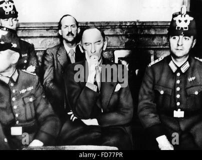 Erwin von Witzleben before the People's Court, 1944 - Stock Photo