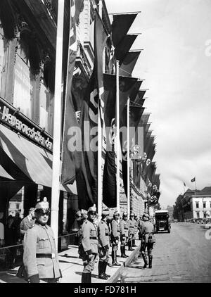 The Wilhelmstrasse decorated for the reception of Hitler in Berlin, 1940 - Stock Photo