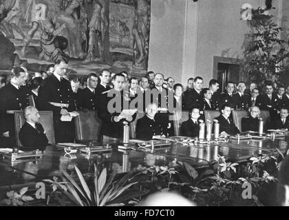 Galeazzo Ciano holds a speech on the extension of the Anti-Comintern Pact in Berlin, 25.11.1941 - Stock Photo