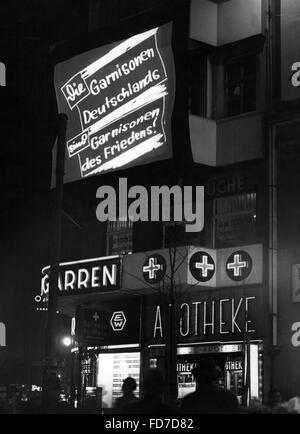Election propaganda on Potsdamer Platz for the Reichstag elections 1936 - Stock Photo