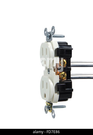 Studio shot of an electrical Wall Outlet - Stock Photo