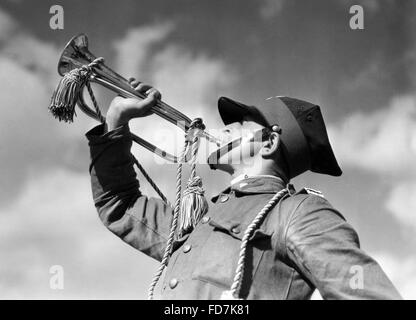 Trumpeter of the polish cavalry before 1939 - Stock Photo