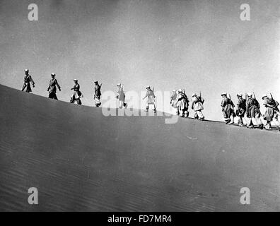 Soldiers of the French Foreign Legion, before 1939 - Stock Photo