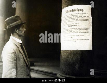 The Beer Hall Putsch in Munich, 09.11.1923 - Stock Photo
