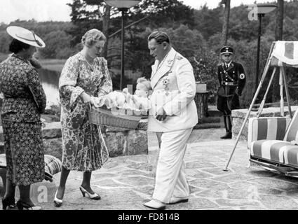Edda Goering with Hermann Göring, 1939 - Stock Photo