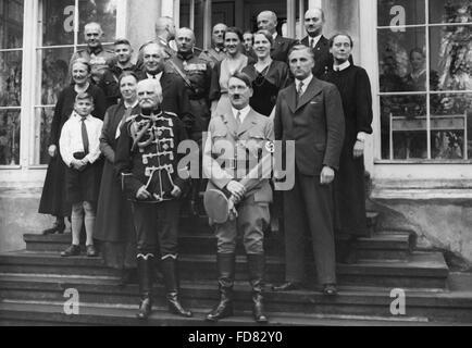 Adolf Hitler as an honourary guest of August von Mackensen, 1934 - Stock Photo