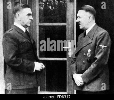 Pavelic Ante with Adolf Hitler, 1944 - Stock Photo