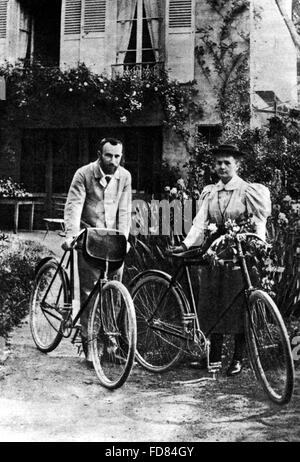 Marie Curie and Pierre Curie, 1895 - Stock Photo