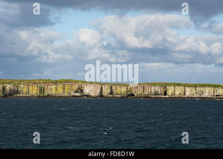 New Zealand, Auckland Islands, uninhabited archipelago in the south Pacific Ocean. Southern Ocean view of the cliffs - Stock Photo