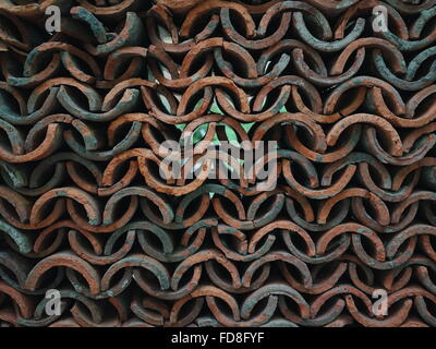Close-Up View Of Metal Fence - Stock Photo