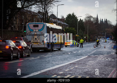 Edinburgh, Scotland, UK. 29th January, 2016. The A8, one of the main arteries of the city near Murrayfield Stadium - Stock Photo