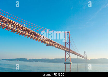 Ponte 25 de Abril, Lisbon, Portugal - Stock Photo