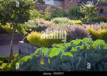 The Kitchen Garden at Rudding Park, North Yorkshire, UK. Summer, July 2015. - Stock Photo