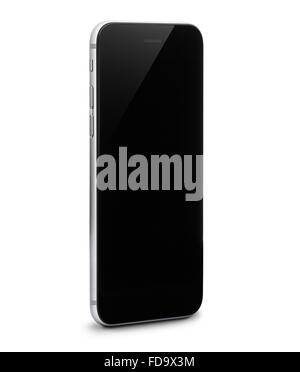 phone isolated with clipping path inside on white background - Stock Photo