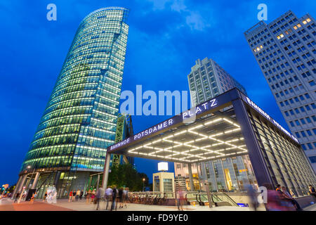 Europe, Germany, Berlin, Skyscrapers at Potsdamer Platz - Stock Photo