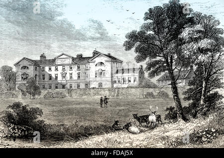 St George's Hospital, 1745, London, England - Stock Photo