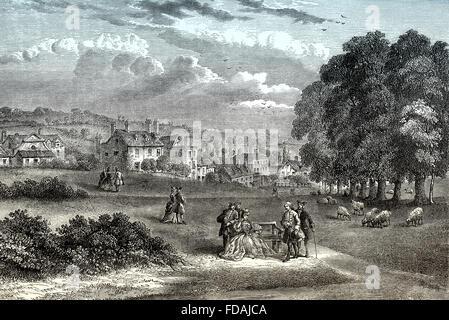Pond Street, 1750, Hampstead or Hampstead Village, London Borough of Camden, London, England - Stock Photo