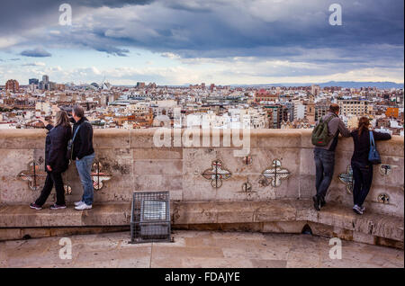 Cathedral.Views from the Miquelete bell-tower. Valencia. Spain. - Stock Photo