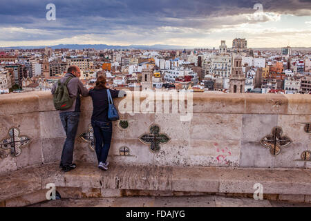 Cathedral.Views from the Miquelet bell-tower. Valencia. Spain. - Stock Photo