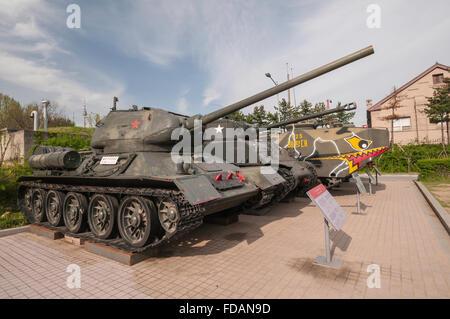 T-34 Tank (USSR), War Memorial of Korea, Jeonjaeng ginyeomgwan, Yongsan-dong, Seoul, South Korea - Stock Photo