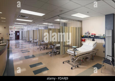 Multiple Beds In Hospital Recovery Room - Stock Photo