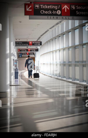 Business Traveler At Philadelphia International Airport - Stock Photo