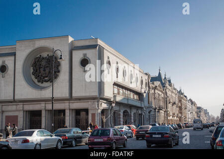 Theater building in Aghmashenebeli avenue Tbilisi, Georgia - Stock Photo