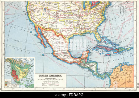 north america southern united states inset vegetation 1920 old map