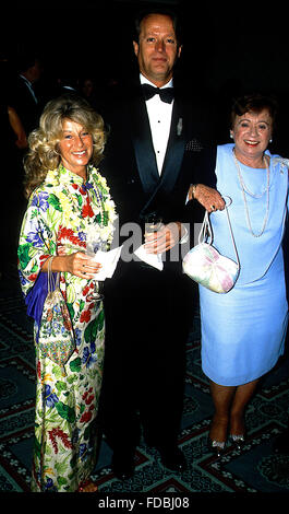 Washington, DC., USA, 14th May, 1988 Peter Fonda and his wife Portia and mother at the Cancer Ball. Credit: Mark - Stock Photo