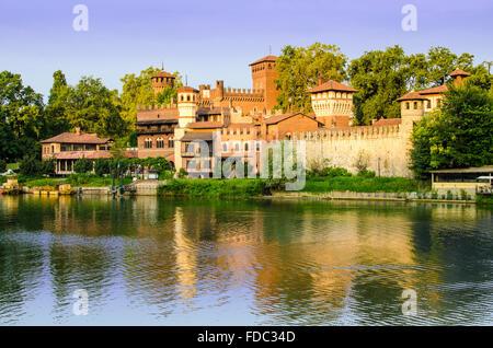 Turin (Torino), Borgo Medievale - Stock Photo