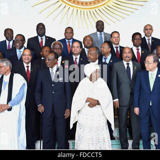 Addis Ababa, Addis Ababa, Ethiopia. 30th Jan, 2016. Egypt's President Abdel Fattah al-Sisi attends the opening ceremony - Stock Photo
