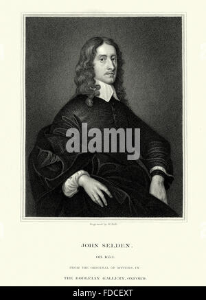 John Selden an English jurist and a scholar of England's ancient laws and constitution and scholar of Jewish law. - Stock Photo