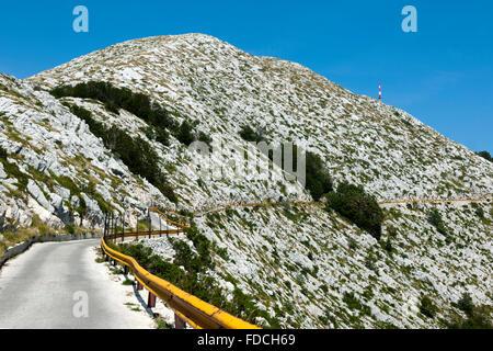 Kroatien, Dalmatien, Makarska, Naturpark Biokovo, Fahrt auf den dritthöchsten Berg Kroatiens, den Sveti Jure 1762 - Stock Photo