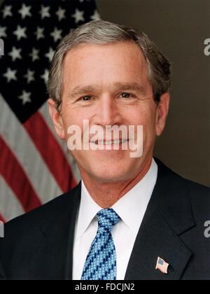 George W Bush. Portrait of US President George W Bush, c.1989 - Stock Photo
