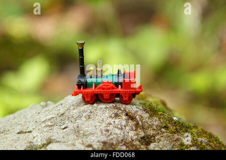 Small toy train - Stock Photo